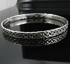 silver cuff bangle bracelet images Sterling silver irish celtic knot cuff bangle bracelet jpg
