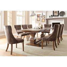 casual dining chairs homelegance marie louise 5pc dining set in weathered oak finish