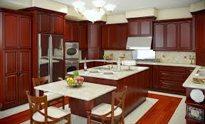 Dark Cherry Wood Kitchen Cabinets by Kitchen Witching Kitchen Design For Apartments With Cream Wooden