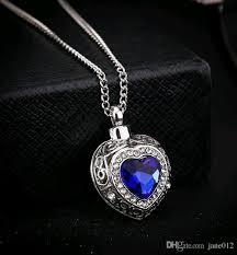 wholesale love necklace images Wholesale wholesale personality blue gem heart pendant necklace jpg