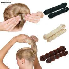 hairstyles with a hair donut buy hair donut bun and get free shipping on aliexpress com