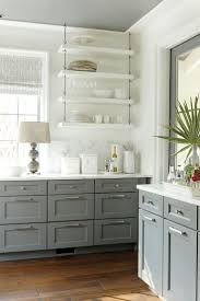 best 25 open kitchen cabinets ideas on pinterest open kitchen love the open shelves southern living idea house gray and white kitchen with open shelves kitchen cabinets gray cabinet grey cabinet