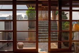 courtyard glass sliding doors home in kuala lumpur malaysia