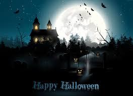 wallpaper halloween moon cemetery night pumpkin holidays 6025