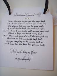 Matron Of Honor Poem Bridesmaid Survival Kit Poem Bridesmaid Survival Kit Tags Thank