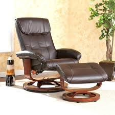 leather recliner chair with ottoman ren leather recliner with