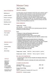 Resume Samples For Teaching by Art Teacher Resume Example Template Sample Teaching Design Job