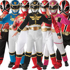 child licensed power ranger party fancy dress costume