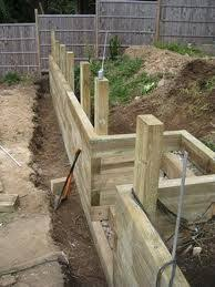 sleepers retaining wall google search landscaping pinterest