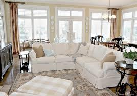 Cuddler Sofa Sectional Furniture Cuddler Sectional Slipcovered Sectional Sofa