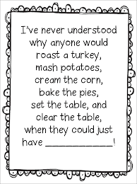 thanksgiving family poems first grade wow turkey trouble just serve