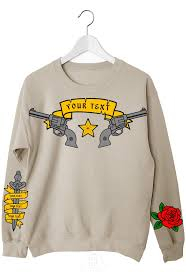 sweatshirt tattoo wear clothing guns in the online shop on the top