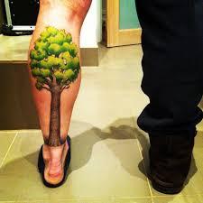 Simple Calf - 23 amazing tree calf tattoos