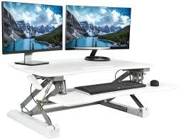 Height Adjustable Standing Desk by Desk V000dw Vivo Deluxe Height Adjustable Standing Desk Tabletop