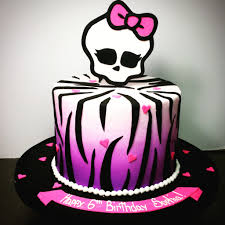 girls monster high birthday cake monster high cake u2014 birthday