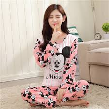 s fashion sweet womens pajamas animal printing indoor
