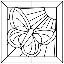 butterfly mosaic coloring pages coloring pages