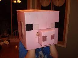 Minecraft Halloween Costume Minecraft Pig Halloween Costume Head Coroplast 8 Steps With