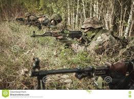 masked soldiers strategy stock photo image