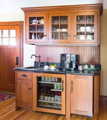 quartersawn oak with bungalow kitchen craftsman and white ovens