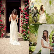 garden wedding dresses discount 2017 a line lace chiffon garden wedding dresses