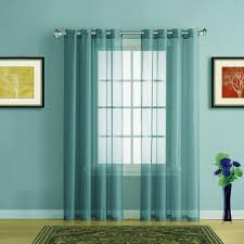 Green Sheer Curtains Warm Home Designs Sea Blue Sheer Curtains Window Scarf Valances