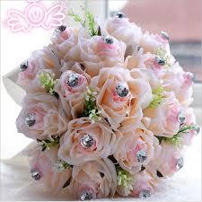 Artificial Flower Bouquets European Style Purple Ivory Bridal Bridesmaid Flower Wedding