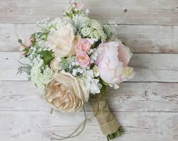bridal flower wedding bouquets etsy