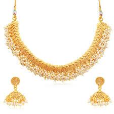 plated choker necklace images Buy sukkhi excellent jalebi gold plated choker necklace set for jpg