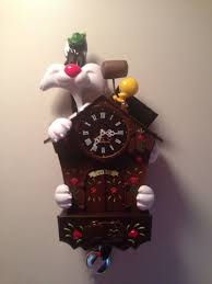 Blue Cuckoo Clock Warner Bros Looney Tunes Sylvester U0026 Tweety Polyresin Cuckoo Clock