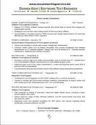 Experienced Manual Testing Resume Sample Resume Format For Experienced Software Test Engineer