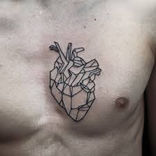 tattoo geometric outline inked tattoo heart ink chest outline tattoos pinterest tattoo