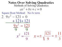how do i solve quadratic equations notes over solving quadratics