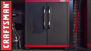 Plastic Storage Cabinet Craftsman Resin Garage Storage System Youtube