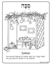 sukkah decorations 10 sukkot simchat torah coloring pages