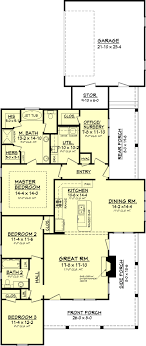 narrow lot house plans with rear garage country style house plan 3 beds 2 00 baths 1900 sq ft plan 430 56