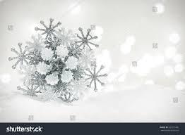 winter snowflake decoration on glitter background stock photo