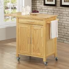 Folding Kitchen Island Cart Red Oak Wood Dark Roast Lasalle Door Origami Folding Kitchen