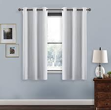 Double Panel Curtains Amazon Com Blackout Curtains For Kitchen Window Pony Dance