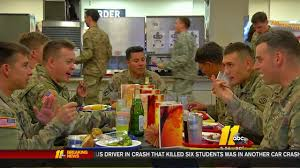 thanksgiving army thanksgiving comes a little early for troops at fort bragg abc11 com