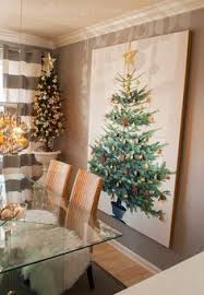 christmas home tour 2014 tree canvas ikea christmas tree and