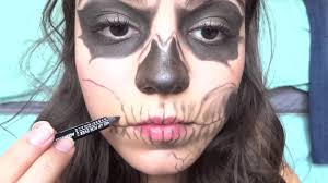 Halloween Skull Makeup Tutorial Zombie Boy Skeleton Makeup Tutorial Youtube