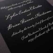 vera wang black wedding invitations