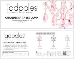 Chandalier Table Lamp Amazon Com Tadpoles Table Lamp Chandelier In White Diamond Baby