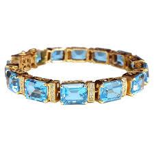 blue topaz bracelet gold images Exclusive 18k gold natural blue topaz diamonds tennis bracelet jpg