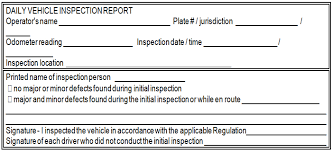 vehicle inspection report template commercial vehicle operators safety manual