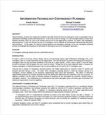 doc 585640 it contingency plan template u2013 13 contingency plan