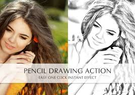 free pencil drawing action