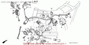 honda xr250r 1989 k australia wire harness c d i unit ignition