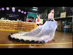 edsci eco modelo 2014 the recycled long gown youtube